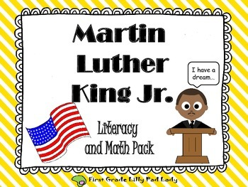 Martin Luther King Jr. Literacy & Math Centers and Printab
