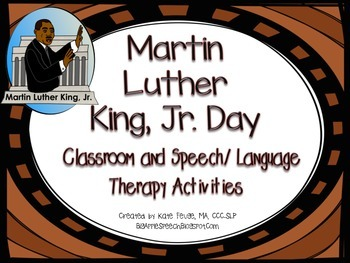 Martin Luther King Jr. (MLK) Literacy Companion Pack (Spee