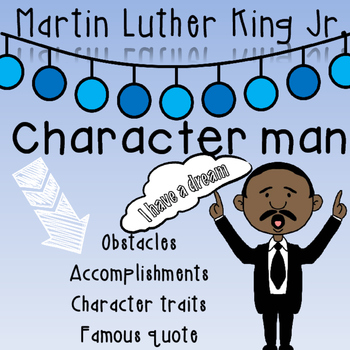 Martin Luther King Jr. (MLK) character man
