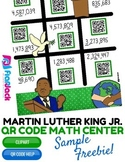 Martin Luther King Jr. Math Rounding QR Code Center FREEBIE