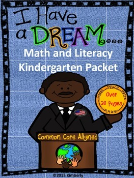Martin Luther King, Jr. Math and Literacy (Print & Go Comm