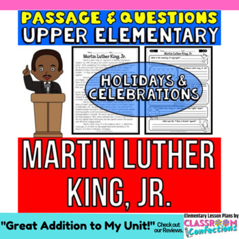 Martin Luther King, Jr.: Passage and Questions: Reading Co