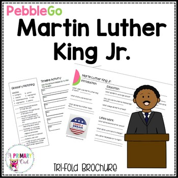 Martin Luther King Jr. Pebble Go research brochure