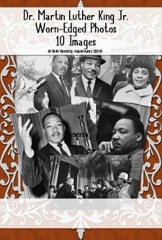 Martin Luther King Jr. Photos With Worn Edges and Shadow,