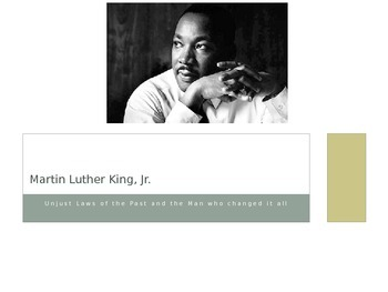 Martin Luther King, Jr. PowerPoint Mini-Unit