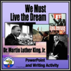 Martin Luther King Jr PowerPoint and Writing Assignment on MLK