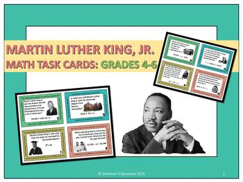 Martin Luther King Jr. Problem Solving: Math Task Cards Gr