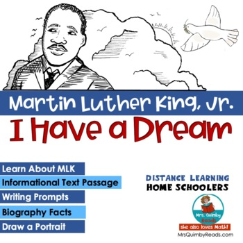 Martin Luther King, Jr. Reader Response Pages - Writing Prompts