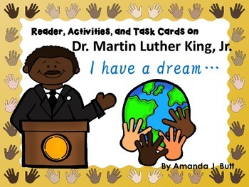 Martin Luther King, Jr. Reader, Task Cards; Black History;