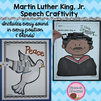 Martin Luther King, Jr. Speech Therapy Crafts