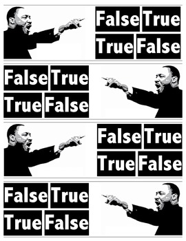 Martin Luther King, Jr. - True/False Activity