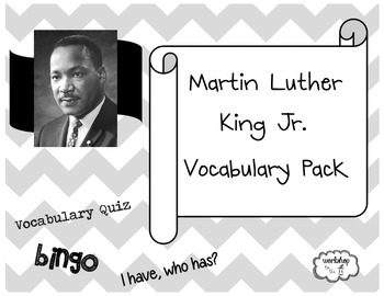 Martin Luther King Jr. Vocabulary Pack