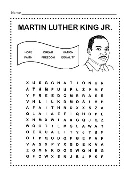 Martin Luther King Worksheets Free
