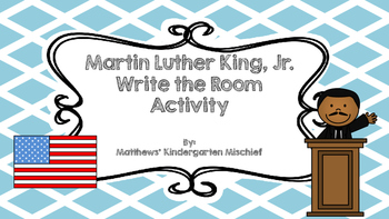 Martin Luther King Jr Write the Room