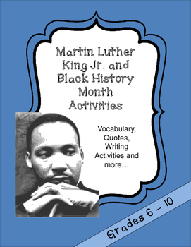 Martin Luther King Jr. and Black History Month Activities