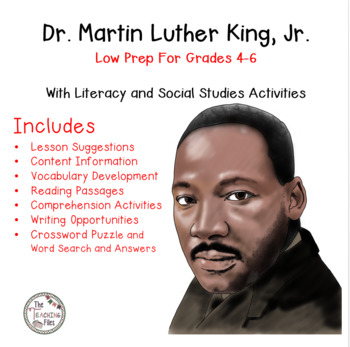 Martin Luther King, Jr.: Social Studies for Grades 4-6 Wit