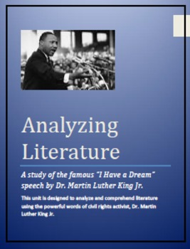 "Martin Luther King Jr...A study of the famous ""I Have a Dr"