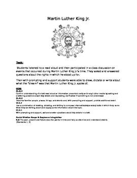 Martin Luther King Junior Bulletin Board Task