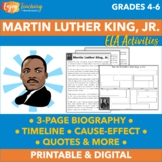 Martin Luther King, Junior Text, Timelines, Cause/Effect,