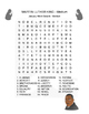 MARTIN LUTHER KING Word Search - Martin Luther King Day -