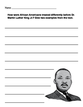 Martin Luther King Writing Prompt