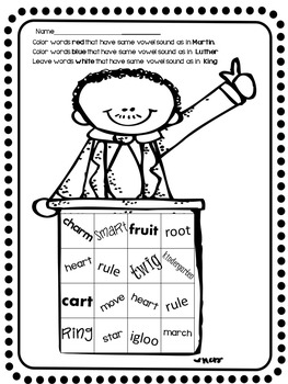 Martin Luther King, Jr. Word Work Unit