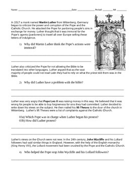 Martin Luther and The Protestant Reformation 2 Pack