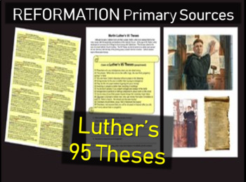 Martin Luther's 95 Theses Primary Source Document with Gui