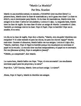 Martín La Mochila Original Story