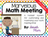 Calendar Time & Daily Interactive Math Routine {Marvelous