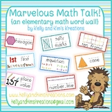 Marvelous Math Talk! {an elementary math word wall}