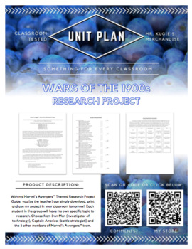 UNIT PLAN - 6th Grade Research Project on Wars of the 1900