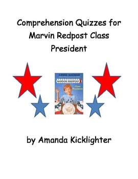 Marvin Redpost Class President Comprehension Quizzes Ch 1 & 2