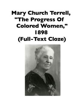 African-American Women: Mary Church Terrell, Speech from 1
