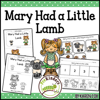 Mary Had a Little Lamb Books & Sequencing Cards