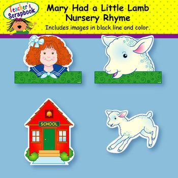 Mary Had a Little Lamb Nursery Rhyme Headbands & Sentence Strips