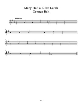 Mary Had a Little Lamb - Recorder Sheet Music