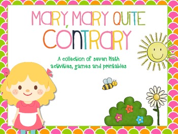 Mary, Mary Quite Contrary Math Activities