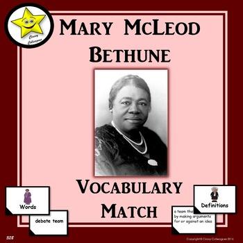 Mary McLeod Bethune Vocabulary Match