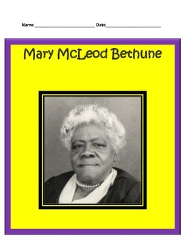 Mary McLeod Bethune BUNDLE- 3rd Grade Social Studies