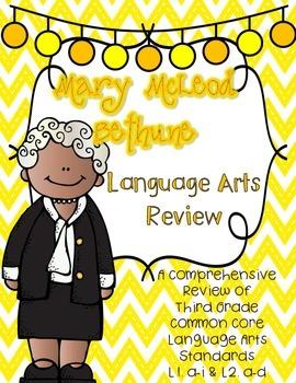 Mary McLeod Bethune's Language Review {Common Core Languag