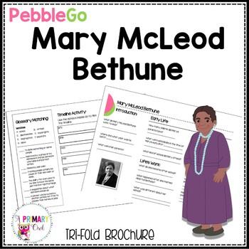 Mary McLeod Bethune Pebble Go research brochure