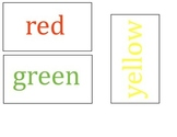 Mary Wore Her Red Dress WORD WALL