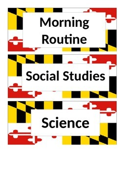 Maryland Flag Subject Labels