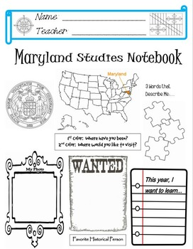 Maryland Notebook Cover