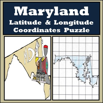 Maryland State Latitude and Longitude Coordinates Puzzle -