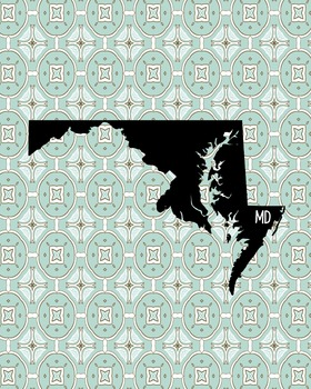 FREEBIE! Maryland Vintage State Map or Poster Class Decor,