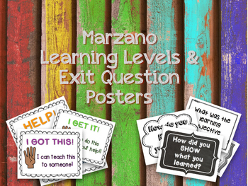 Marzano & Exit Question Posters