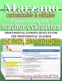 Marzano Framework for Teacher Evaluation (APPR) Editable P