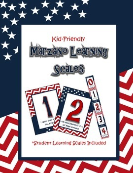 Marzano Learning Scales Stars and Chevron